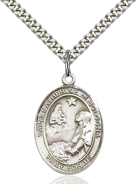 Sterling Silver St. Catherine of Bologna Pendant