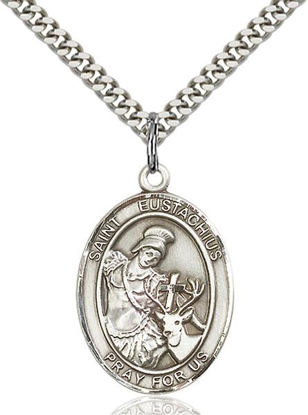 Sterling Silver St. Eustachius Pendant