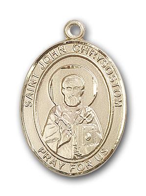 14K Gold St. John Chrysostom Pendant