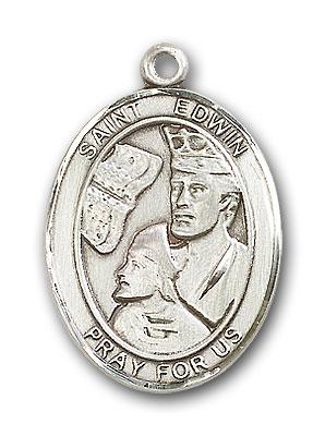 Sterling Silver St. Edwin Pendant