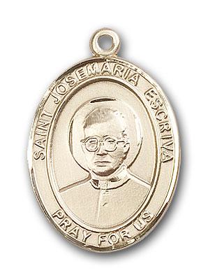 14K Gold St. Josemaria Escriva Pendant