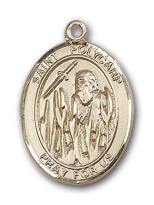 14K Gold St. Polycarp of Smyrna Pendant