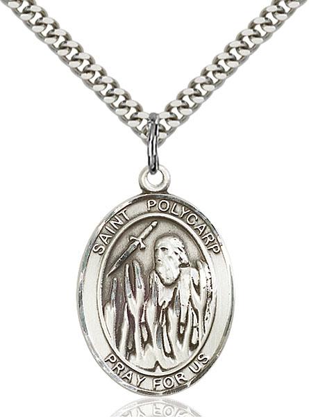 Sterling Silver St. Polycarp of Smyrna Pendant
