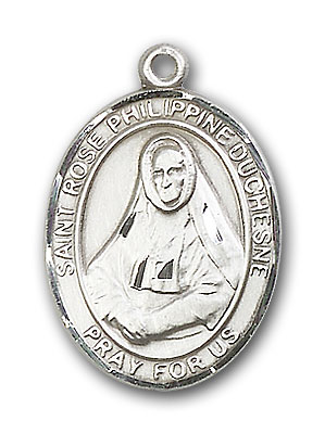 Sterling Silver St. Rose Philippine Pendant
