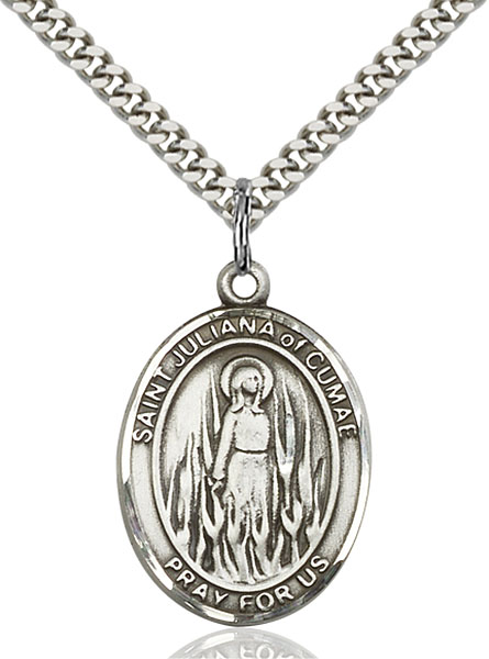 Sterling Silver St. Juliana Pendant