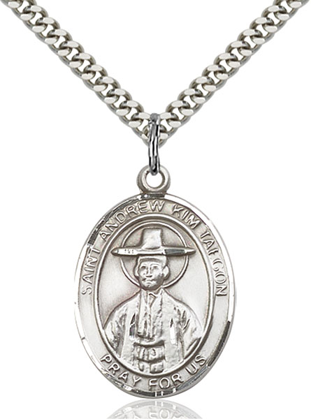 Sterling Silver St. Andrew Kim Taegon Pendant