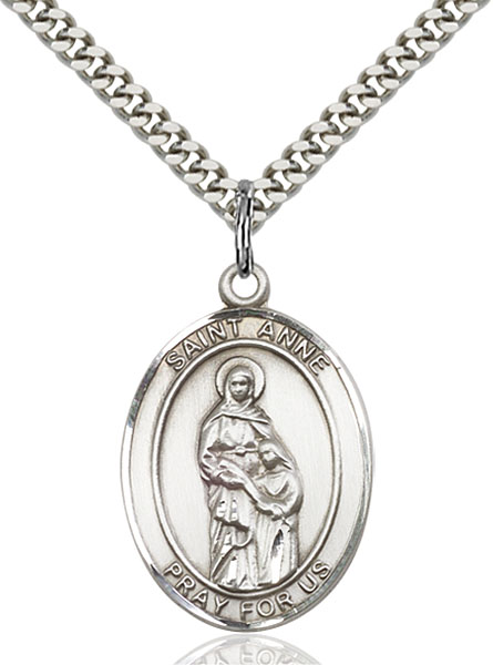 Sterling Silver St. Anne Pendant