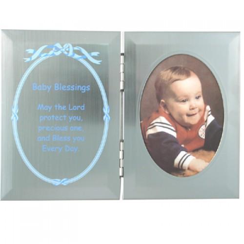 Silver Dbl Boy Baby BleSterling Silver Plq