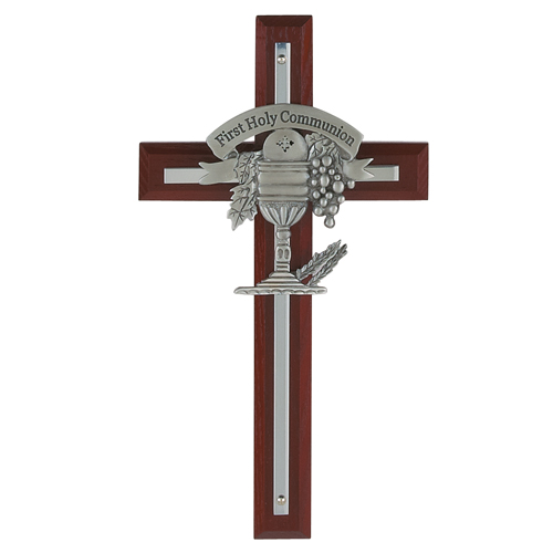 """7"""" Cherry Stained Cross"""