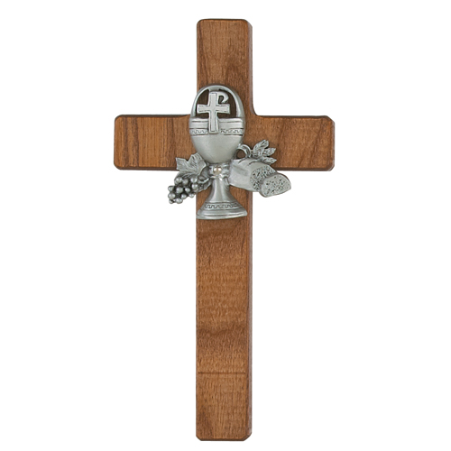 "6"" Walnut Stained Comm Cross"