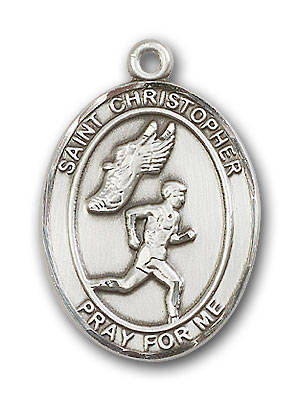 Sterling Silver St. Christopher Track&Field Men Pe
