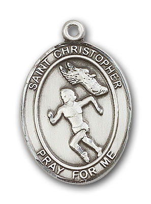 Sterling Silver St. Christopher Track&Field Women