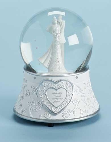 6-inch H Wedding Glitterdome