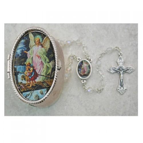 Guard. Angel Crystal Rosary Box