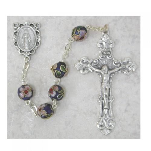 7MM Blue Real Cloisonne Rosary