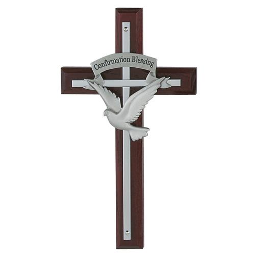 "7"" Holy Spirit Cherry Cross"