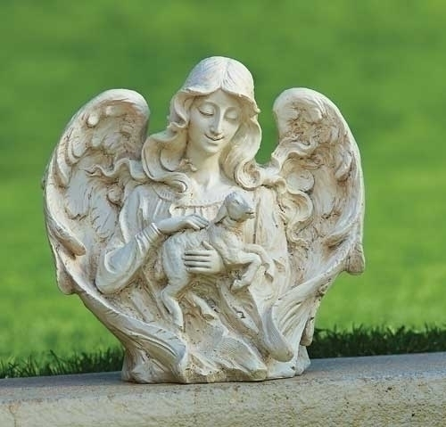 12-inch Angel With Lamb Garden