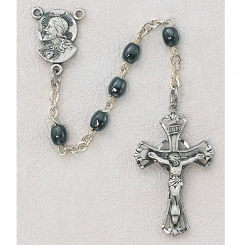 Oval Hematite Rosary