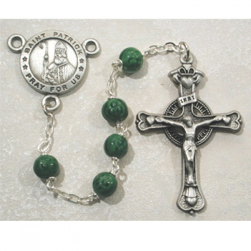 7MM  Green St. Patrick Rosary