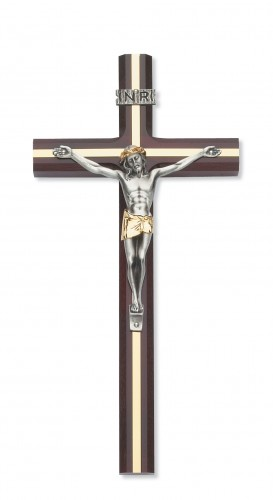 "10"" Cherry Crucifix Gold Inlay"