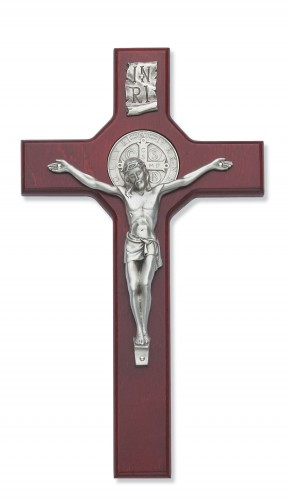 "10.5"" Cherry St. Benedict Crucifix"