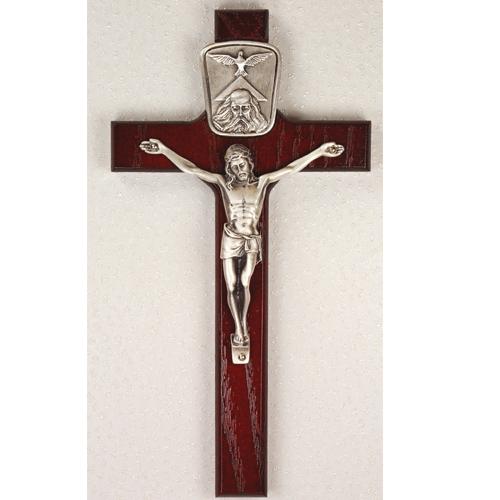 "8"" Cherry Trinity Crucifix"