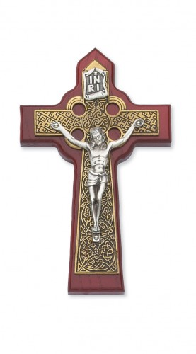 "5 3/4"" Cherry Celtic Crucifix"