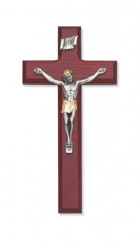 """8"""" Cherry Crucifix 2Tone Corp"""