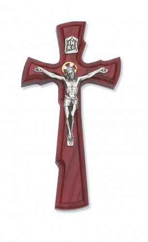 "8"" Cherry Crucifix with Halo"