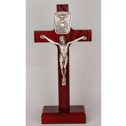 """8"""" Standing Cherry Trinity Crucifix"""