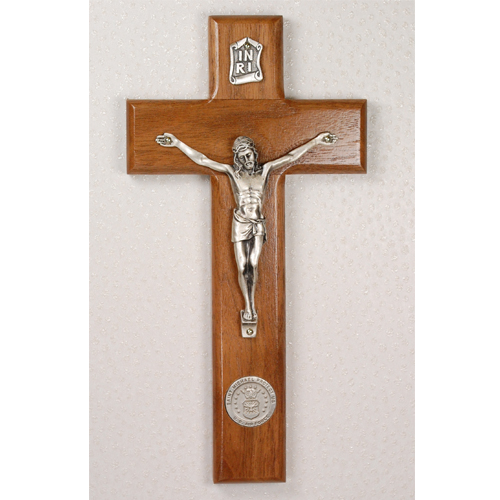 "8"" Walnut Airforce Crucifix"