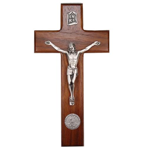 "8"" Walnut National Guard Crucifix"