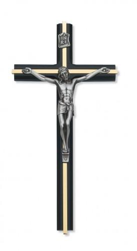 """9 1/2X4 1/2"""" Black Crucifix"""