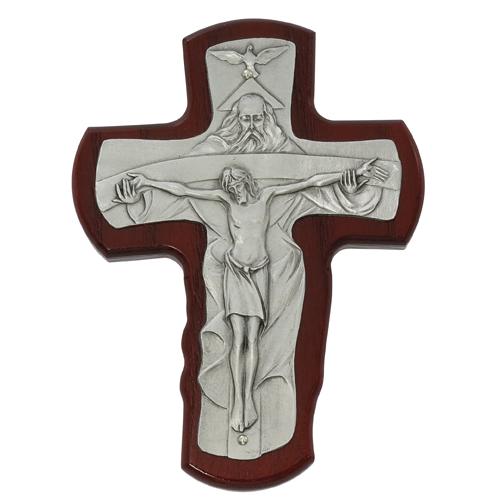 "5 1/2"" Cherry Trinity Crucifix"