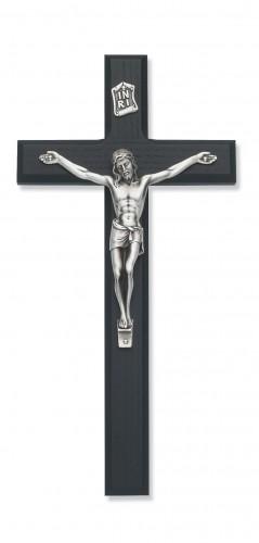 """10"""" Black/Silver Crucifix"""