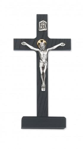 """8"""" Black Standing Crucifix"""