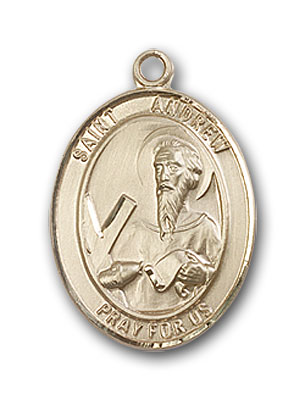 14K Gold St. Andrew the Apostle Pendant