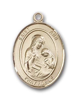 14K Gold St. Ann Pendant