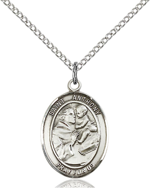 Sterling Silver St. Anthony of Padua Pendant