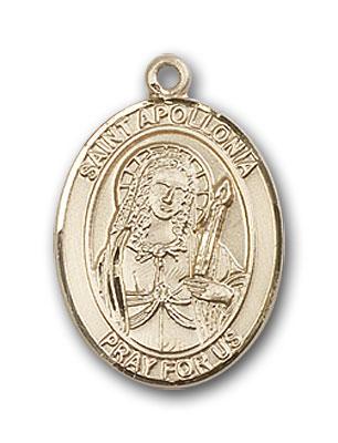 14K Gold St. Apollonia Pendant