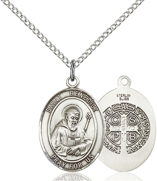 Sterling Silver St. Benedict Pendant