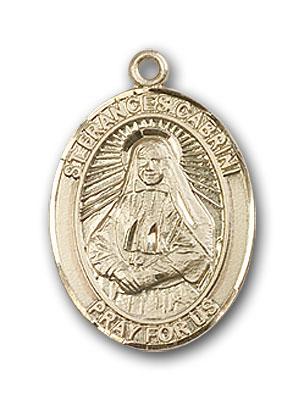 14K Gold St. Frances Cabrini Pendant
