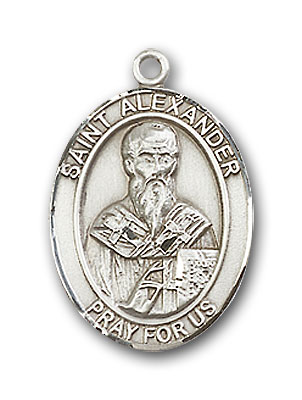 Sterling Silver St. Alexander Sauli Pendant