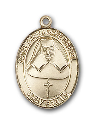 Gold-Filled St. Katharine Drexel Pendant
