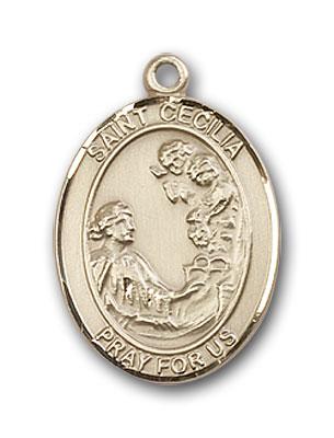 14K Gold St. Cecilia Pendant