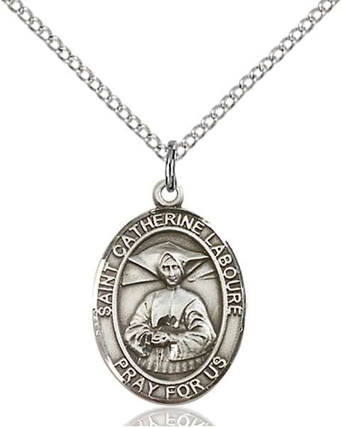 Sterling Silver St. Catherine Laboure Pendant