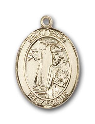 14K Gold St. Elmo Pendant