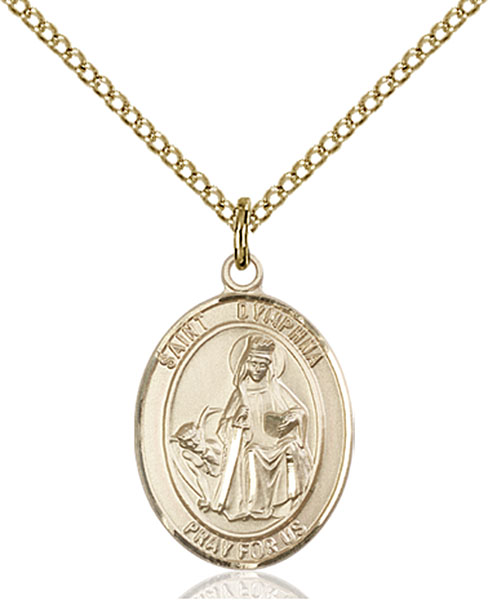 Gold-Filled St. Dymphna Pendant