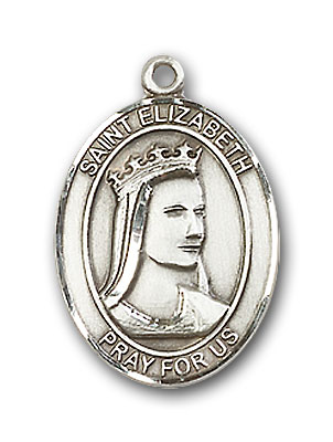 Sterling Silver St. Elizabeth of Hungary Pendant