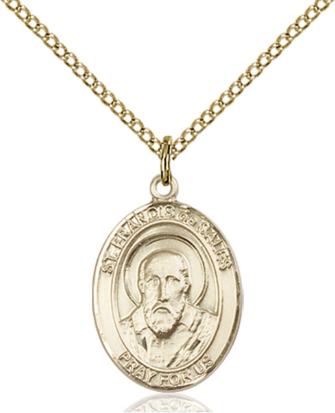 Gold-Filled St. Francis De Sales Pendant